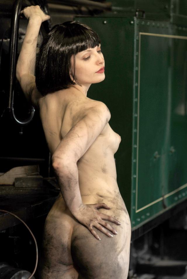 Heather On A Locomotive