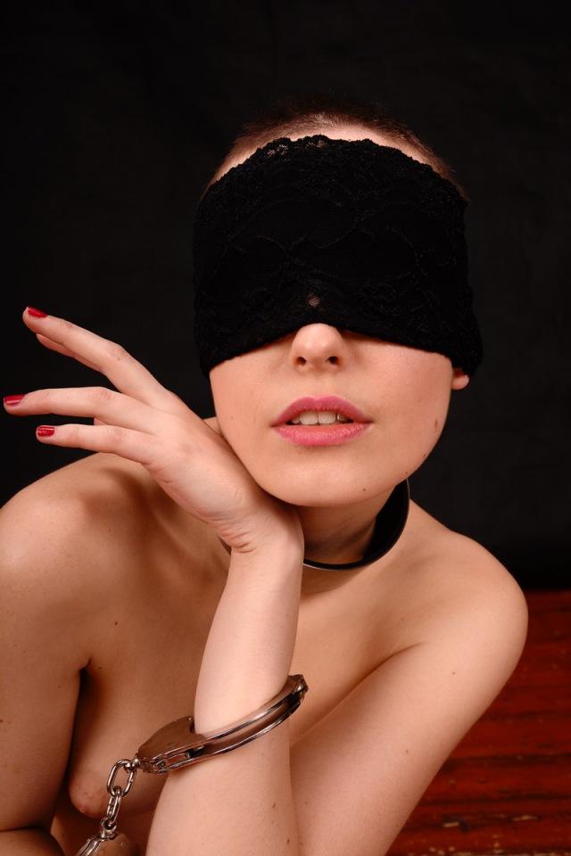 Cuffed And Blindfolded  But Stylish Elegant