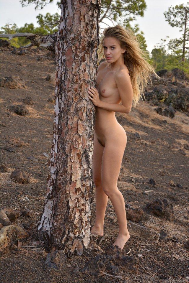 Behind A Tree